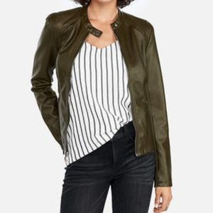 Express Green 'Minus The Leather' Moto Jacket